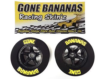 Gone Bananas Racing Skinz Foam Drag Wheels & Tires (set of 2)