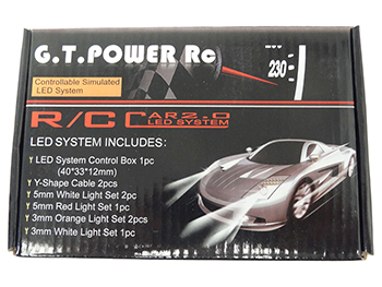 GT POWER 8 LED Flashing Light Wire 2.0 LED Light System for RC 1/10 and up Scale Car