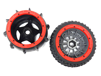Raminator Monster Truck Beadlocks (red)