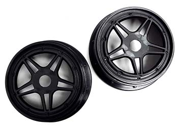 Rovan F5 Race Car 24mm Hex Front or Rear 5 Star Rims (Set of 2)