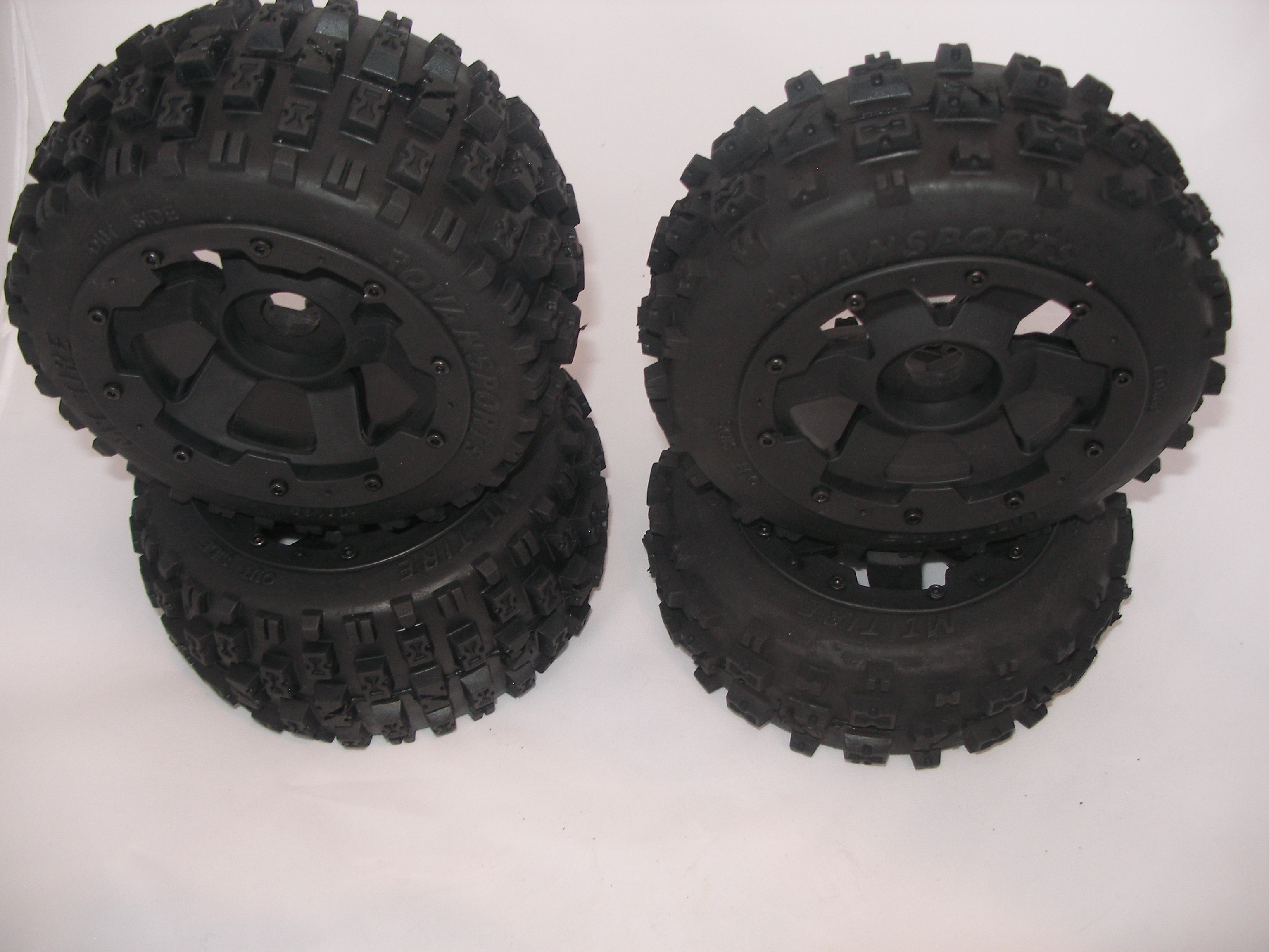 Baja Buggy Knobby Tires on rims (Bowties) (set of 4)