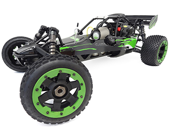 1/5 Rovan 305A Gas Petrol Buggy Ready To Run RTR 30.5cc HPI Baja 5B SS King Motor Compatible with PERFORMANCE PIPE! (Black/Green)