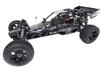 1/5 Rovan 305A Gas Petrol Buggy Ready To Run RTR 30.5cc HPI Baja 5B SS King Motor Compatible with PERFORMANCE PIPE! (Black with Grey Flame)