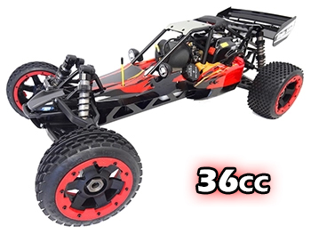 1/5 Scale Rovan 360A Gas Petrol Baja Buggy Ready To Run 36cc (red/orange/black) with PERFORMANCE PIPE!