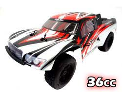 1/5 Scale 2019 36cc 2WD Ready To Run Short Course Baja Gas Truck 360SC (black / red / white)