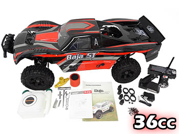 1/5 Scale 2019 36cc Gas Ready To Run Terminator Baja Truck 360T (black/red)