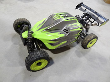 ** USED ** Upgraded 1/5 scale 45cc SLT450 V5 DELUXE 4WD Ready-to-Run Buggy (green)