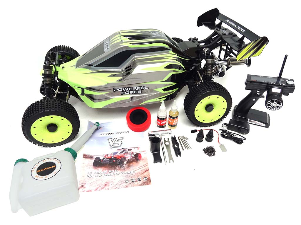 Upgraded 1/5 scale 45cc SLT450 V5 DELUXE 4WD Ready-to-Run Buggy (green)