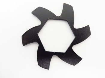 Stock Aluminum Brake Fan (black)