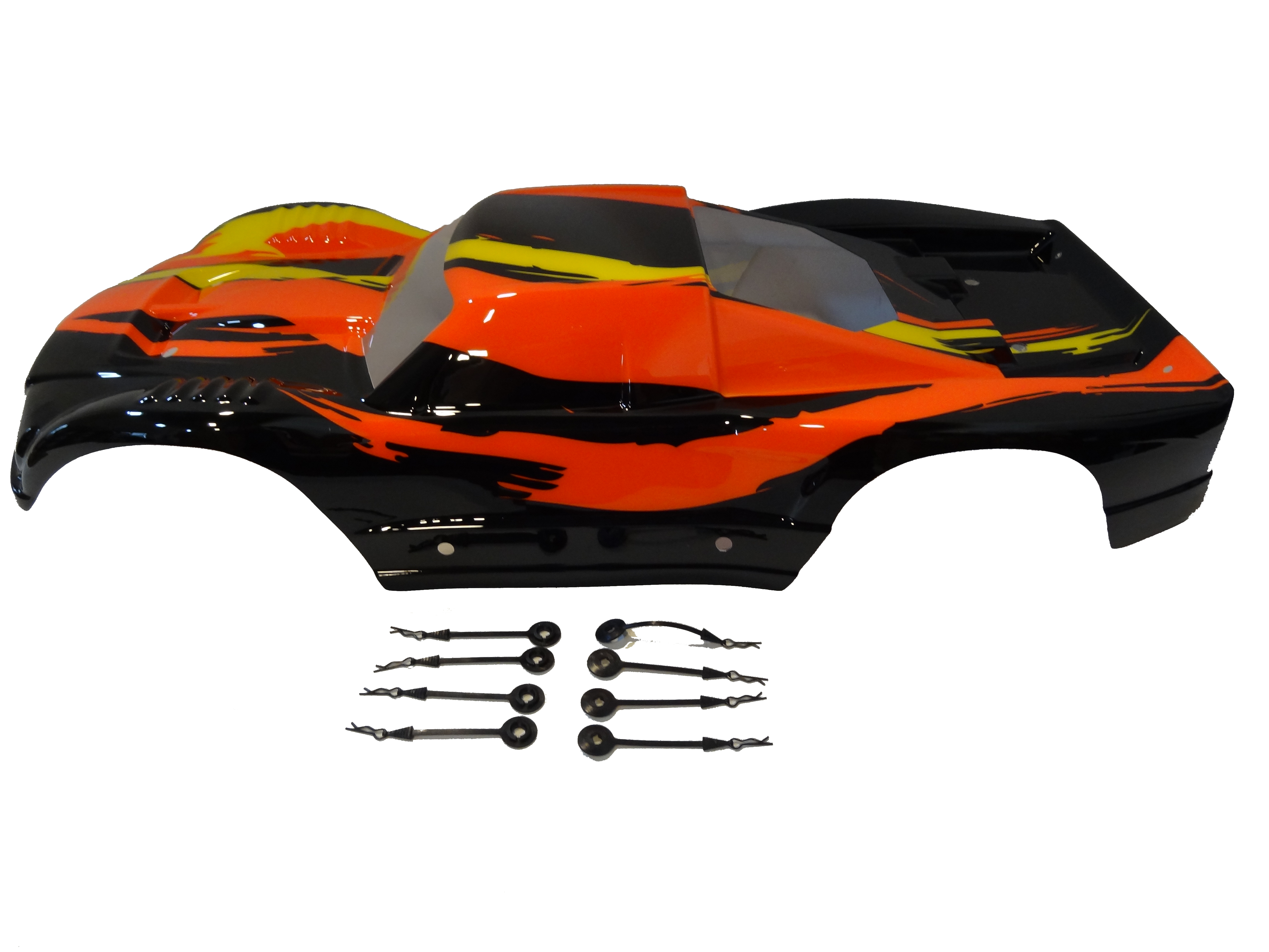 Terminator Truck Body Very Strong PC Material (black / orange) MAX5T, HPI Baja 5T style