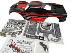 Terminator Truck Body Very Strong PC Material (black / red / gray) MAX 5T, HPI Baja 5T style