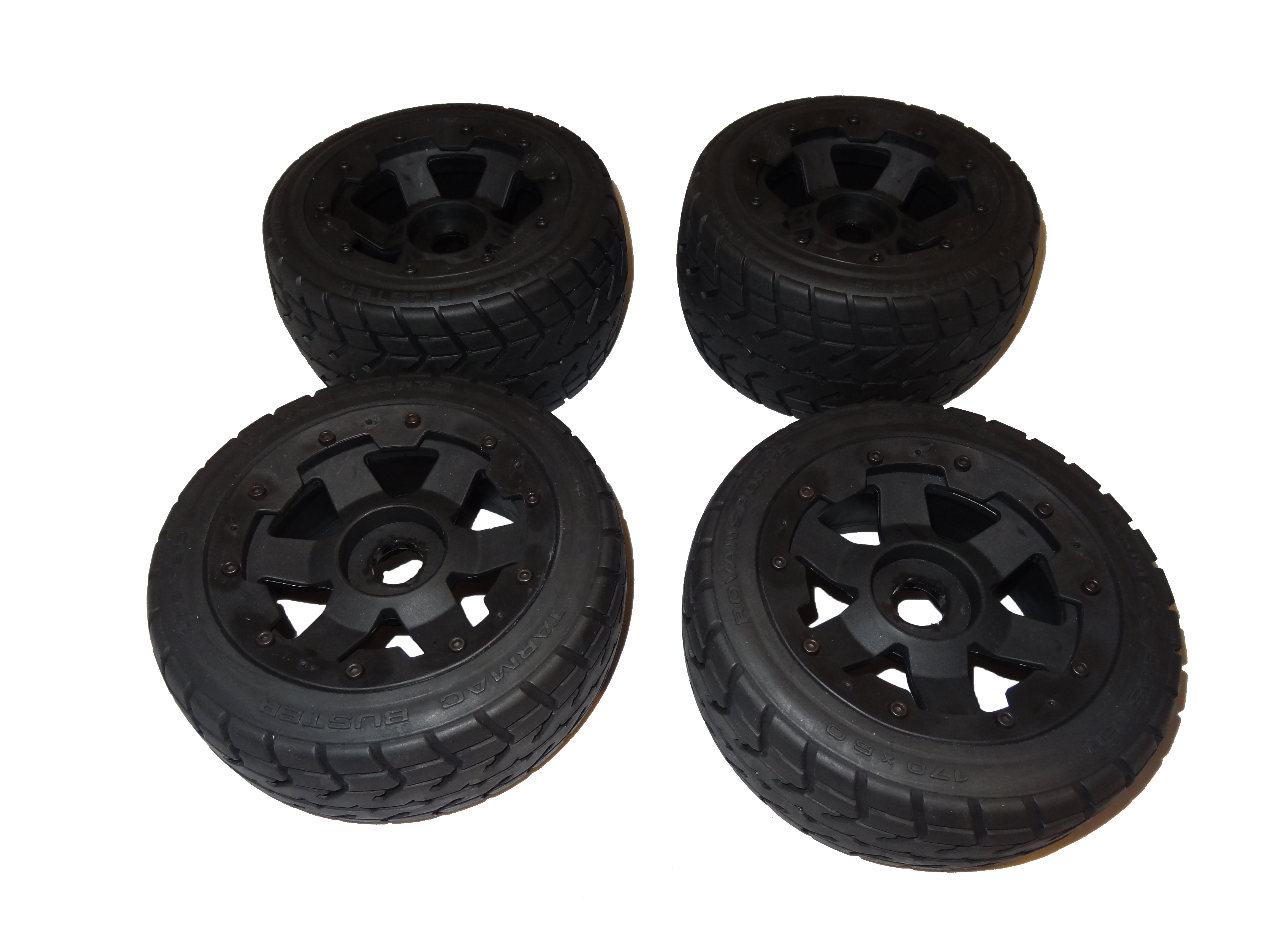 1/5 Baja Buggy Road Wheels on 6 Spoke Black Rims (set of 4)