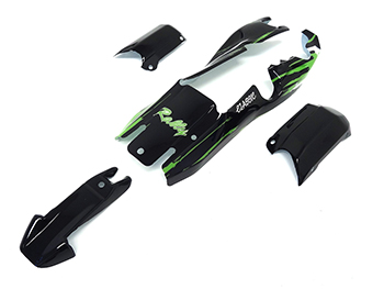 1/5 Baja Buggy Body Kit Rally Graphic (black & green)