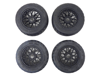 Baja Buggy FC On-Road Tires on new 20 spoke rims (Set of 4)