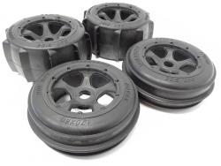 1/5 Scale Baja Buggy Sand and Paddle Tire Wheels on 5-Spoke Rims