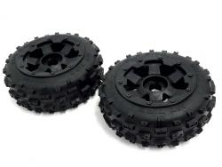 1/5 Scale Baja Buggy Front Knobby Bowtie Tires on Rims (2)