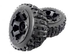 Baja Buggy Rear Knobby Bowtie Tires on Rims
