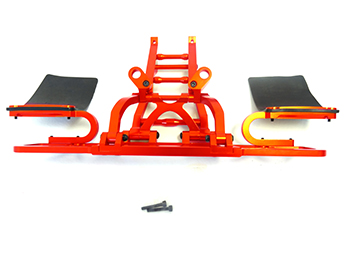 CNC Aluminum Short Course Rear Bumper (orange)