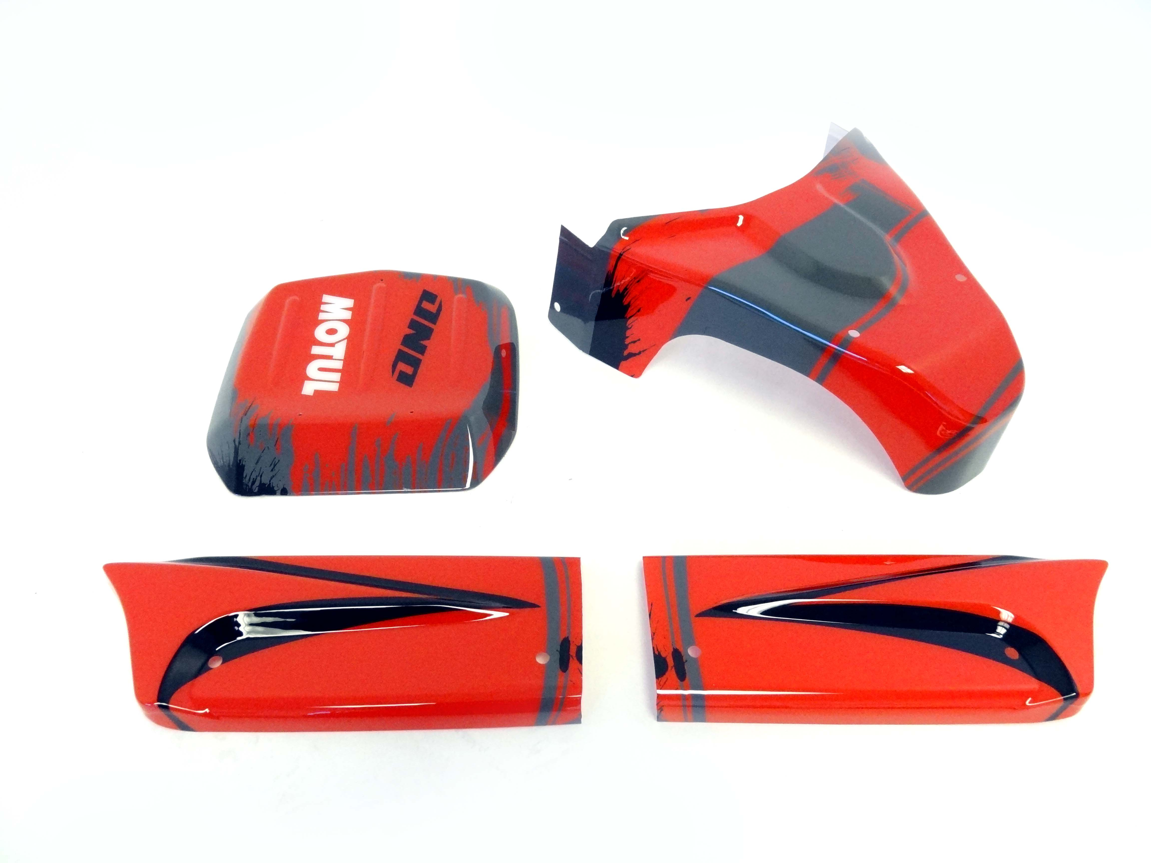 Panel Kit for Internal Roll Cage (red/black)
