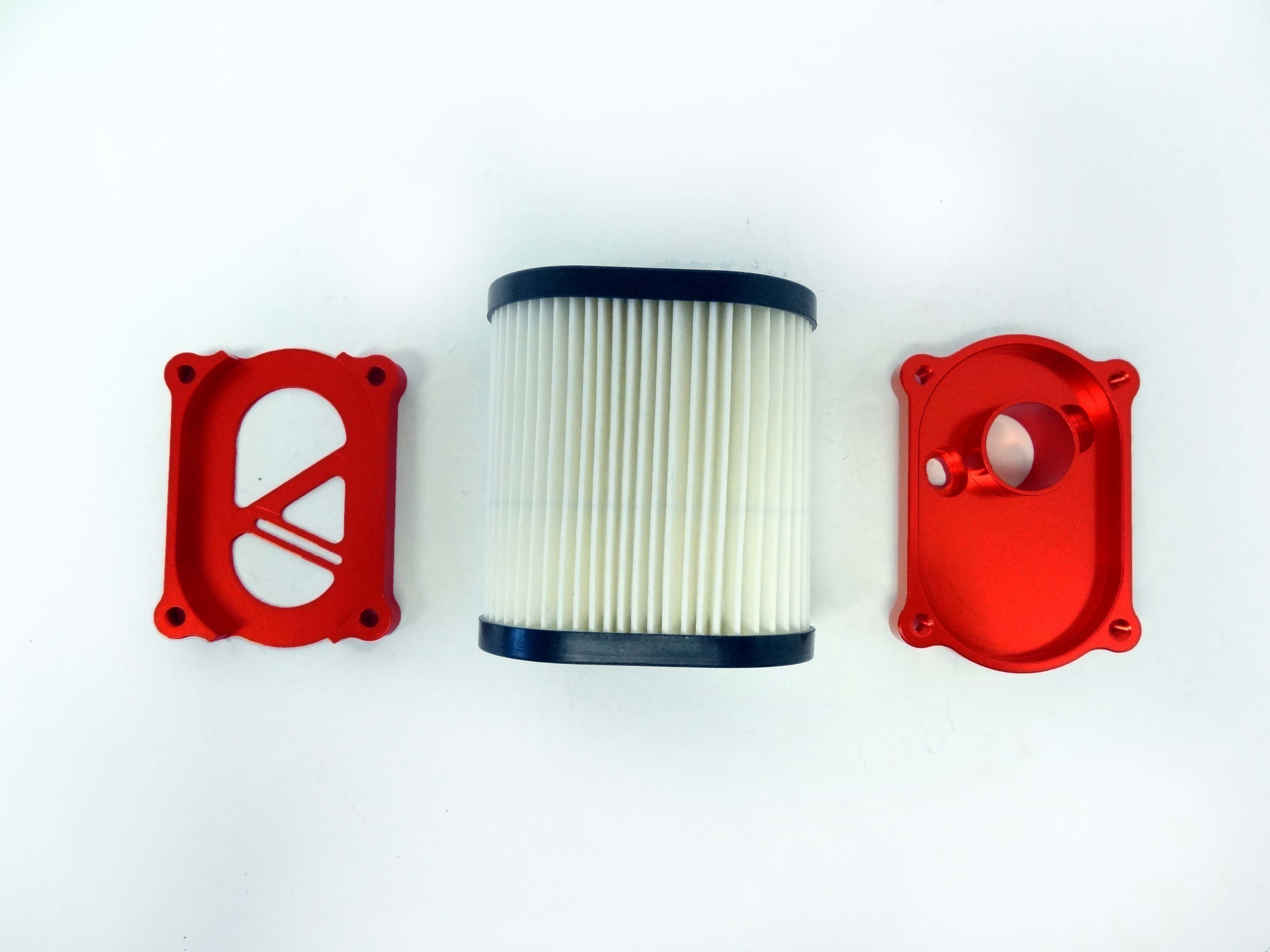 CNC Aluminum Air Filter Kit (orange)
