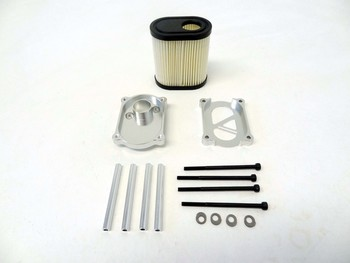 CNC Aluminum Air Filter Kit (silver)