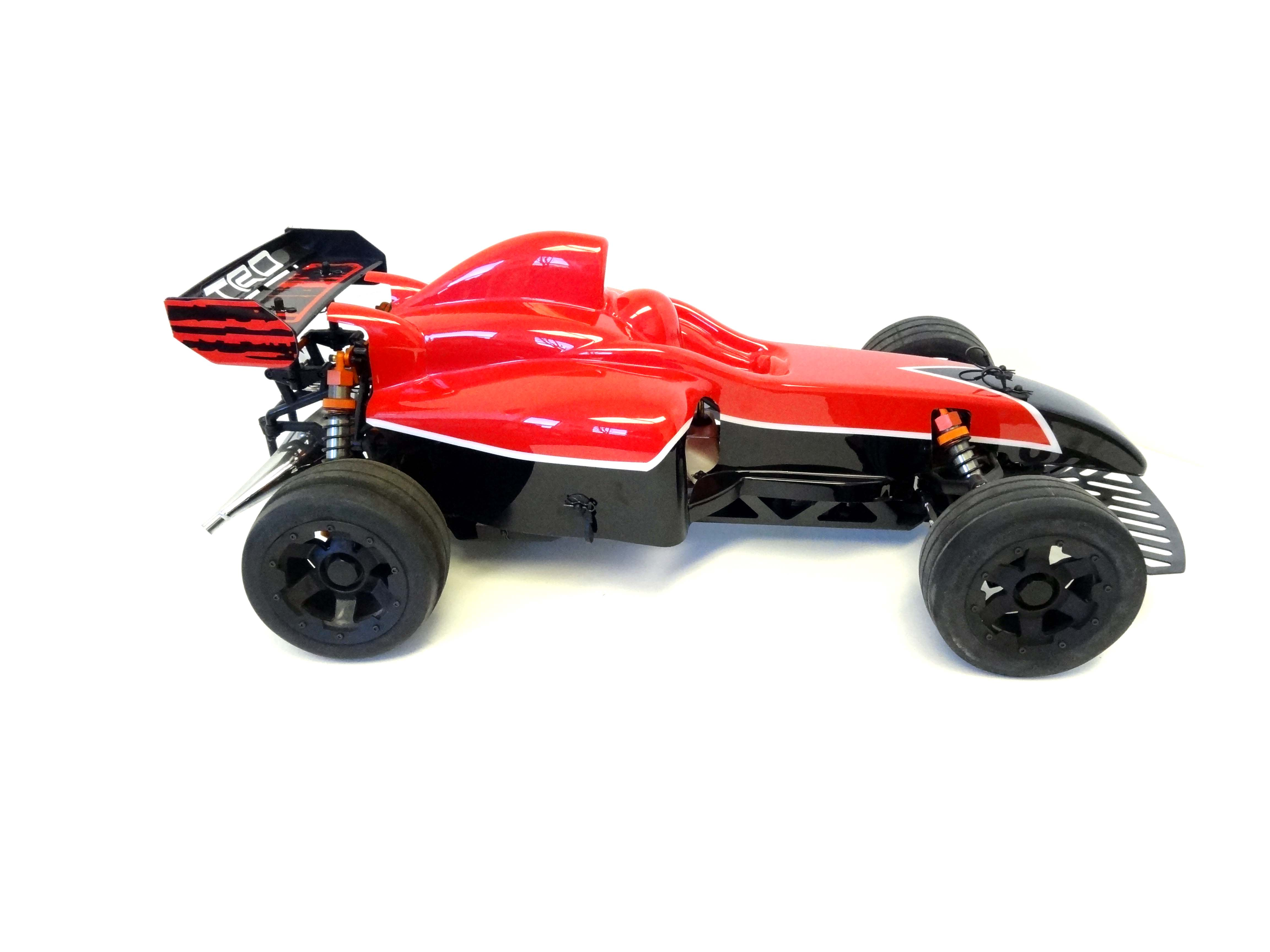 F1 Painted Formula One Body Kit With Mounts (red/black)