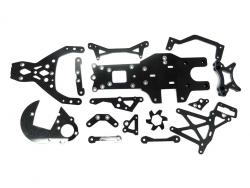 1/5 Rovan Baja Complete 15-Piece Carbon Fiber Chassis Parts Kit