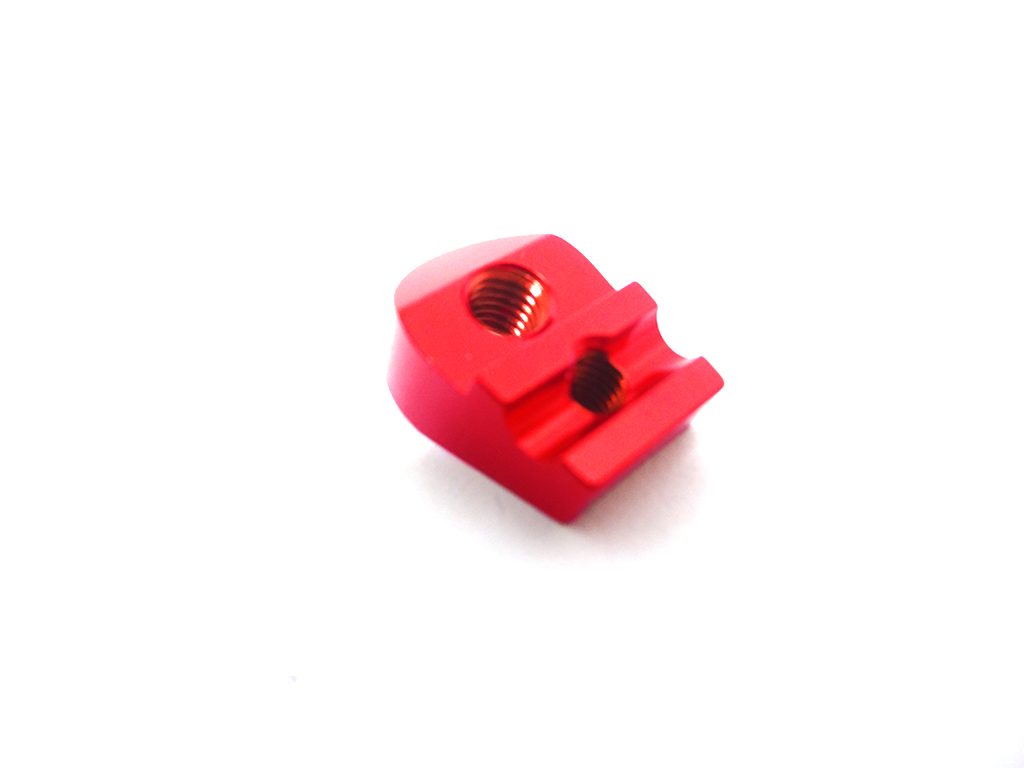CNC Aluminum Heavy Duty Front Sway Bar Mount Kit (red/orange)