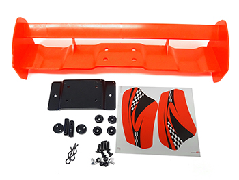 Baja Oversize Rear Wing, Spoiler Kit (red)