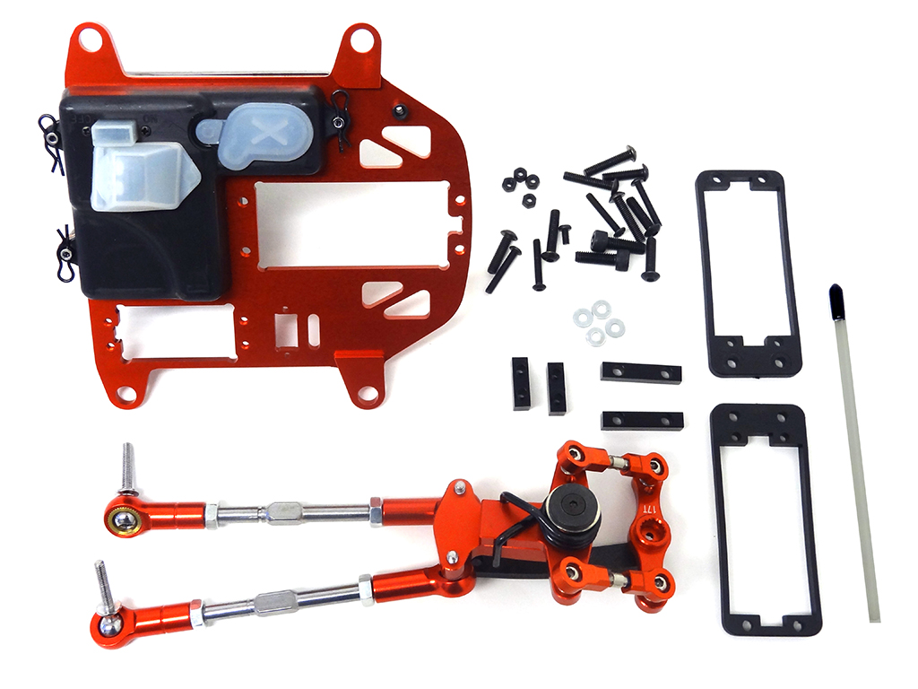 Rovan Baja Aluminum Symmetrical Push-Pull Steering Kit (Red)