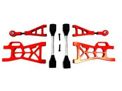 1/5 Baja Extended CNC Aluminum Rear Suspension Arm Kit (orange-red)
