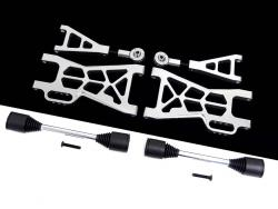 1/5 Baja Extended CNC Aluminum Rear Suspension Arm Kit (silver)