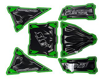6-Piece Roll Cage Panel Kit for Baja MAX TS 5T (Green)