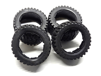 Baja Buggy All-Terrain V2 Front and Rear Tires (4)