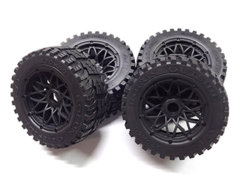 Rovan Baja Buggy ALL TERRAIN V2 Front and Rear Tires on Rims 170 X 60, 170 X 80