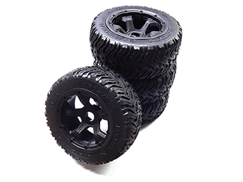 Rovan Terminator H/T All Terrain Truck Tires on Rims (set of 4)