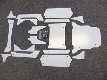 LT Clear Unpainted Roll Cage Body Panel Kit