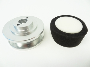 LT, SLT CNC Aluminum Air Filter Kit (silver)