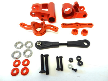 LT, SLT CNC Orange Aluminum Push-Pull Steering Kit