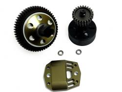 4WD LT Short Course Truck and SLT Buggy and LOSI 5IVE-T 2 Speed Transmission Gear Kit (gun metal)