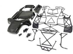 Rovan LT Flexible Panel Kit & Roll Cage Fits LOSI 5IVE-T, KM X2 (black)