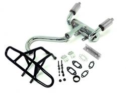 SLT V5 4WD Buggy Steel Tube Rear Bumper & High Performance Dual Outlet Pipe Kit