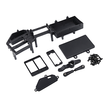 Rovan XLT Monster Truck Battery Box with Dual Servo Steering Mounts, Arms