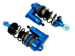 F5 Race Car CNC Aluminum Adjustable Piggy Back Reservoir Shocks (blue)