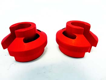Aluminum Shock Spring Retainers (6mm) (orange) (set of 2)