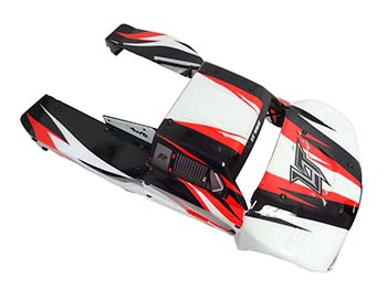 LT Body (Red/Black/White) Fits LOSI 5IVE-T, KM X2
