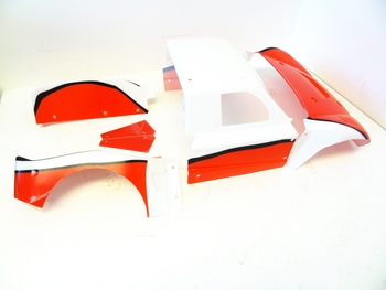 LT Body, Pre Cut, Fits LOSI 5ive T (Red/White)