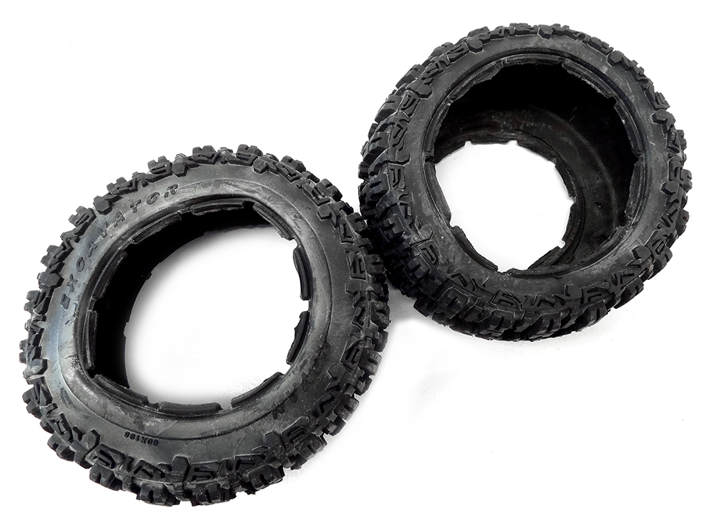 NEW Rovan 1/5 Scale Excavator Tires/Wheels 195x80 Fits HPI Baja 5T Rear Size (2)
