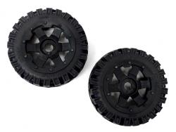 1/5 Scale Baja Buggy Front Mounted All-Terrain Tires on 6 Spoke Rims