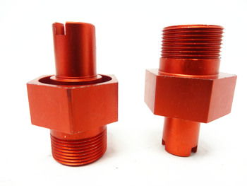 Baja Front Clipless Hubs (orange) (Set of 2)